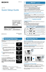 sony bravia led tv manual pdf