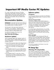 HP Media Center m1200 - Desktop PC Update