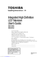 toshiba 40e220u user manual pdf download rh manualslib com Old Toshiba TV Models toshiba tv model 40e220u manual