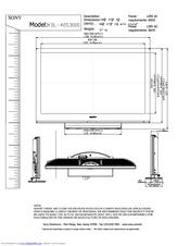 sony kdl 40s3000 bravia s series 40 digital lcd television manuals rh manualslib com sony bravia kdl-40s3000 specs sony kdl-40s3000 manual pdf