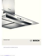 Bosch dwk66aj60t inclined hood instruction manual | manualzz. Com.