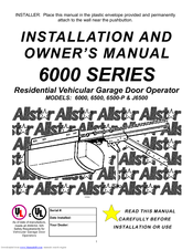 Allstar Products Group 6500 Installation And Owneru0027s Manual (24 Pages).  Residential Vehicular Garage Door Operator