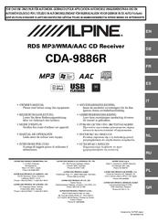 alpine cda 9886r owner s manuals rh manualslib com alpine stereo manual cde-133bt alpine audio manual