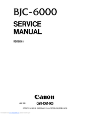 Canon BJC-6000 Series Service Manual