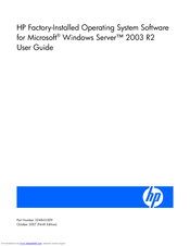 HP ProLiant ML310 Generation 5p User Manual