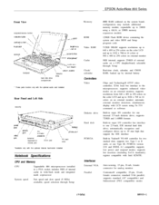 Epson ActionNote 880 Product Information Manual