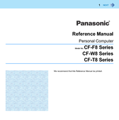Panasonic CF-T8 series Reference Manual