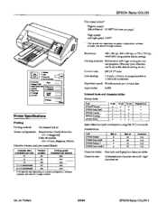 Epson Stylus Photo - Ink Jet Printer Product Information Manual