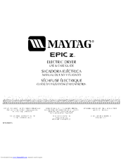 maytag bravos dryer service manual