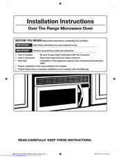 Samsung Smh2117s Xaa Installation Instructions Manual