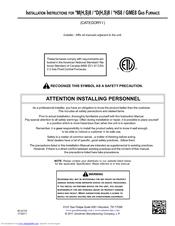 Amana HS8 Installation Instructions Manual