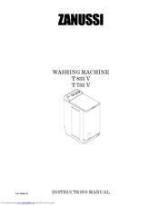 zanussi t 833 v manuals rh manualslib com Ideal Zanussi Washing Machines electrolux zanussi washing machine instruction manual