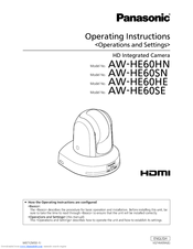 Panasonic AW?HE60SE Operating Instructions Manual