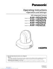 Panasonic AW?HE60SE Operating Instructions Manual