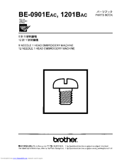 Brother BE-0901E PC Parts Manual