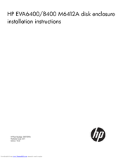 HP 6400/8400 Installation Instructions Manual