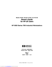 HP Model 747i - Workstation Owner's Manual