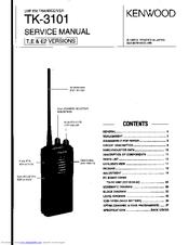 kenwood tk 3101 uhf manuals rh manualslib com Kenwood KDC 155U Manual Kenwood Car Stereo Manual