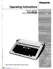 panasonic kx r530 electronic typewriter manuals rh manualslib com KX Typewriter Panasonic E700m Panasonic Typewriter Repair