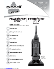 Bissell Powerforce 174 Helix Turbo Bagless Manuals