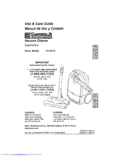 Kenmore 2029319 - Canister Vacuum Use And Care Manual