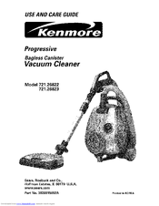 Kenmore 26823 - Progressive Bagless Canister Vacuum Use And Care Manual