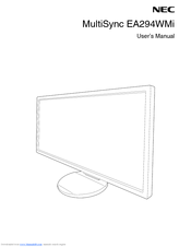 NEC EA294WMi-BK User Manual