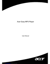 Acer Easy MP3 Player User Manual