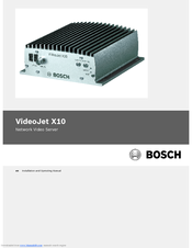 Bosch VJT-X10S Installation And Operating Manual