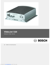 Bosch VJT-X20S Installation And Operating Manual