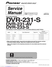 pioneer dvr 231 av manuals rh manualslib com Dish DVR Manual Annke DVR User Manuals