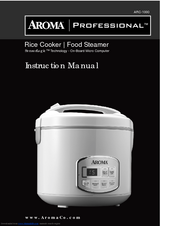 aroma arc 1000 instruction manual pdf download rh manualslib com Aroma Rice Cooker User Manual Aroma Rice Cooker User Manual