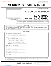 Sharp LC-C4662U Service Manual