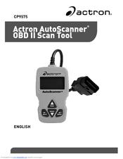 Actron Autoscanner Obd Ii Scan Tool Cp9575 Manuals Manualslib