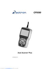 actron cp9580 instruction manual pdf download rh manualslib com Actron AutoScanner Plus CP9580 Software Actron CP9580 Update