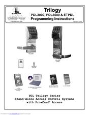 Alarm Lock Trilogy Pdl3500 Manuals