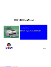 Epson R200 - Stylus Photo Color Inkjet Printer Service Manual