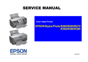 Epson R260 - Stylus Photo Color Inkjet Printer Service Manual