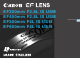 Canon EF300mm F2.8L IS USM Instructions Manual